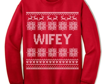 Wifey Ugly Christmas Sweatshirt. Uncle To be. Nordic. Family Christmas. Sweater. Jumper. Ugly Christmas. Pullover.