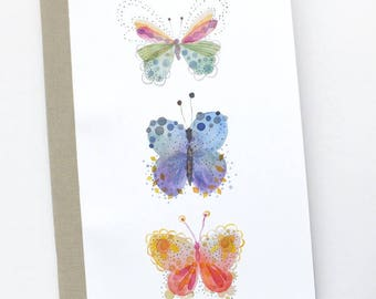 Butterfly watercolor print notebook, Butterfly journal, Illustrated journal,  Butterfly stationery, Butterfly illustration, Cute stationery