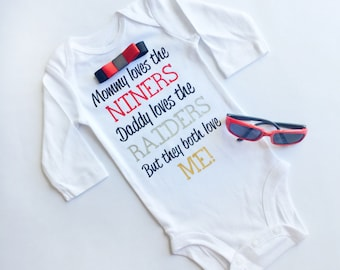 Custom House Divided Baby Bodysuit - Perfect custom gift for football, hockey, baseball and college sports fans and baby showers!
