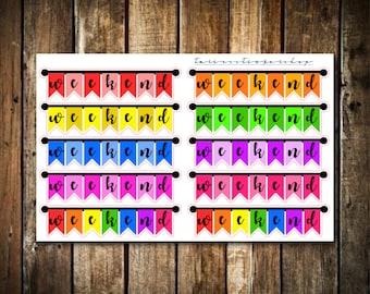 10 Weekend Banners - Fits Erin Condren Vertical & Happy Planner