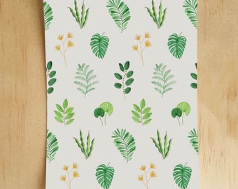 Fern Pattern Postcard