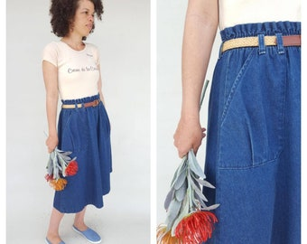 80s Skirt / Denim Skirt / Jean Skirt