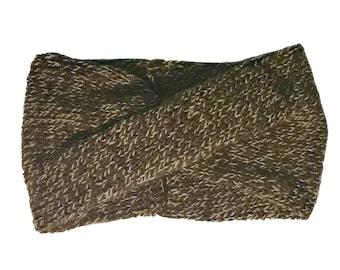 Knitted Twisted Turban Headband // The TWISTER Headband // Knitting // One Size