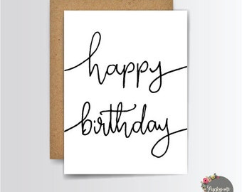 Birthday Greeting Card, Greeting Cards, Birthday Card, Birthday Gift, Happy Birthday, Stationery Cards, G001