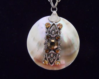 Shell and Rhinestone Necklace
