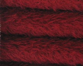 Quality 325S/CM - Mohair-1/4 yard (Fat) in Intercal's Color 450S-Crimson. A German Mohair Fur Fabric for Teddy Bear Making & Crafts
