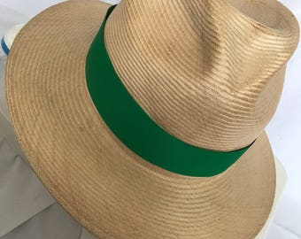 Hat with green trim