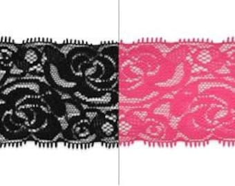 """Expo 5 Yards of Breanna 2 1/4"""" Stretch Raschel Lace Trim"""