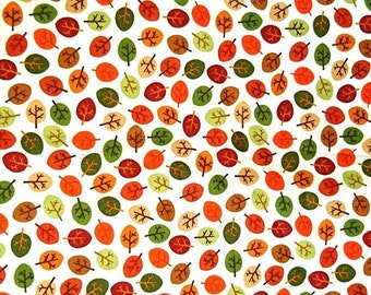 Fabric Cot, 100% cotton fabric of autumn, fall leaves