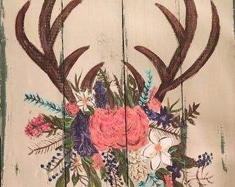 Horns with flower crown