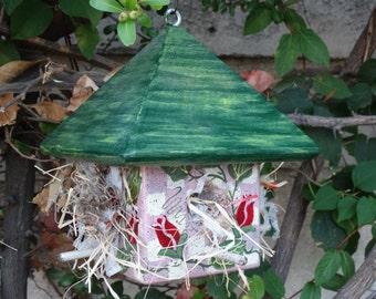 Build Abode Bird Abode - Painted Handmade Wooden Bird House