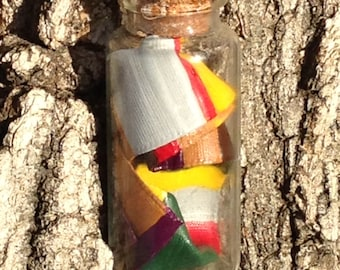 4th Doctor's Striped Scarf in a Bottle