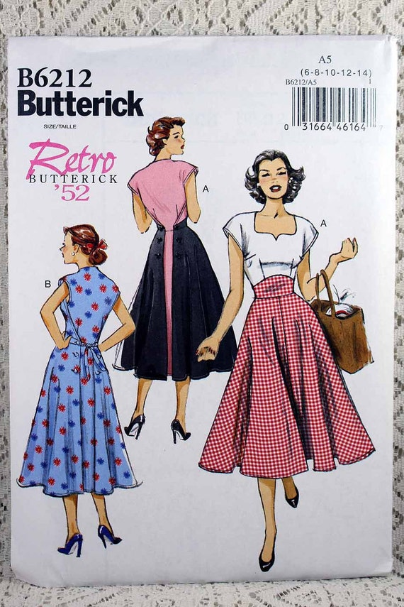 Butterick 6212 Misses\' Dress Sewing Pattern Back Wrap