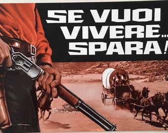 Italian pressbook / sales brochure Se vuoi vivere... spara! (If You Want to Live... Shoot!)Dir.  Sergio Garrone 1968