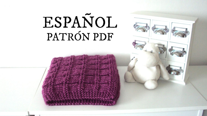PATRÓN Mantilla bebé tejida, patrón tejido para principiantes ...