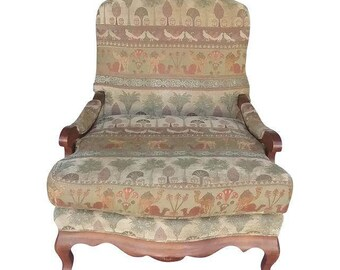 Sam Moore Furniture Open Arm Bergere Accent Chair (Shipping Not Included)