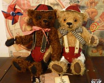 Tweedle dee and Tweedle dum, Handmade Bears.