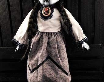 """Ebba 16"""" OOAK Porcelain Horror Doll"""