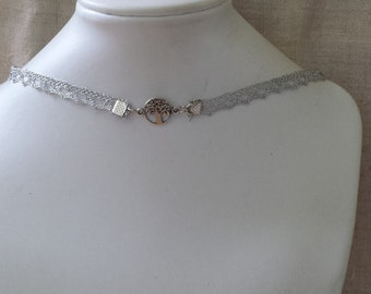 """""""Silver Ribbon and tree"""" Choker necklace"""