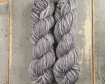 Super Bulky Yarn Merino Nylon//Hand Dyed Yarn//Speckled Yarn//Single Ply//Superwash Hand Dyed//Maizy Super Bulky - Slate *In Stock