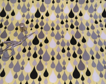 Jersey cotton Bioau meter-drops fabric pink or yellow