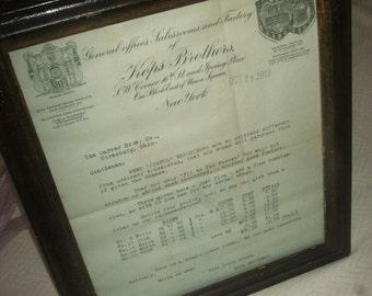 1919 Kops Brothers Brassiere Price List