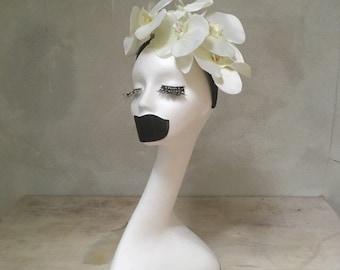 Miss White Orchid Fascinator