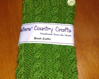 Hand Knit Boot Topper, Boot Cuff