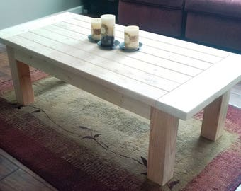 Farmhouse Style Custom Solid Wood Coffee Table