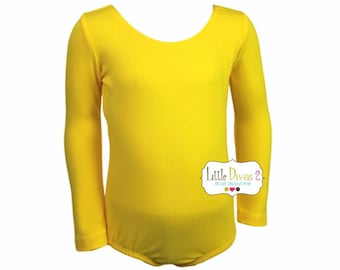 Yellow Leotard (Child)  Long Sleeve Leotard
