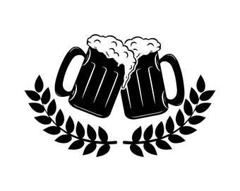 Mug Foam Beer Pub Cerveza Delicious Recreational Drink Alcohol Cold .SVG .EPS .PNG Vector Space Clipart Digital Download Circuit Cut Cutting