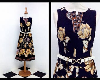 "vintage dress with ""baroque"" pattern"
