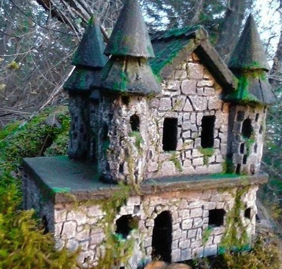 fairy garden castle. STONE FAIRY CASTLE - Fairy Castle House Garden Ruin Miniatures Or Gardens Accessories A