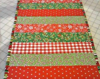 Christmas Table Runner - Quilted Table Runner - Ready to Ship