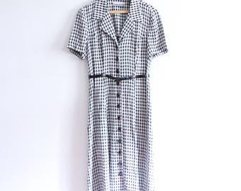 Pretty Gingham 90s Maxi Dress