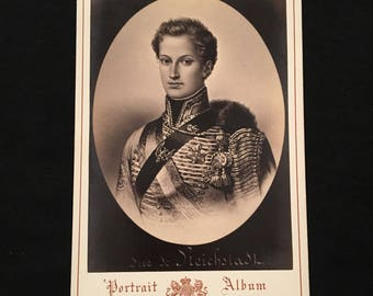 Cabinet Card of Napoleon II, 19th Century Antique Photograph, Jacotin Portrait Album