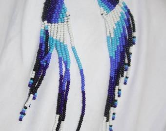 Multi color earrings // handmade beaded earrings // African earrings//  beaded earrings//
