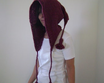 Knitted Elf Hood Pattern in Two Lengths