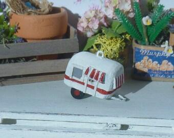 Dollhouse Miniature Camper Birdhouse