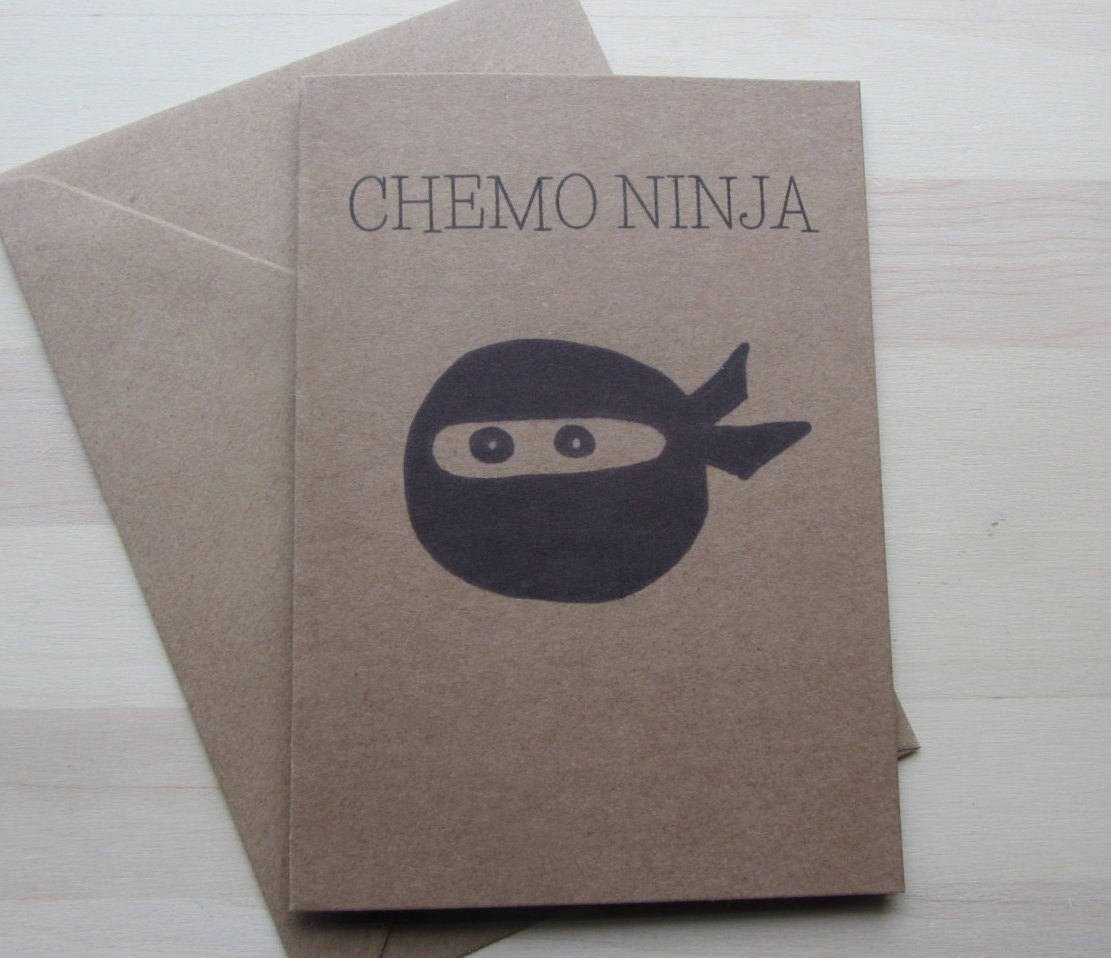 Illustrated chemo ninja greeting card cancer treatment humor zoom kristyandbryce Gallery