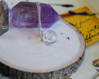 Small Dandelion seed Orb Necklace