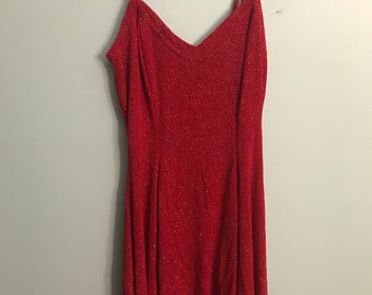 Sparkly Red Late 90s Rampage Swing Dress