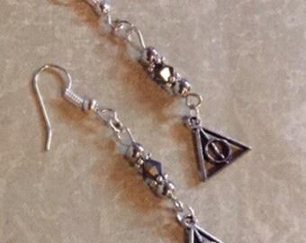 Harry Potter Earrings Beaded Dangle Earrings Harry Potter Jewelry Harry Potter Gift