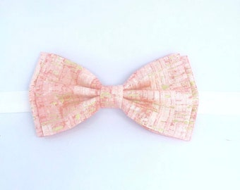 Pink Gold Bow Tie, Pink Bow Tie, Mens Bow Tie, Blush Gold Bow Tie, Blush Bow Tie, Boys Bow Tie, Toddler Bow Tie, Blush Clip-on, Blush Gold