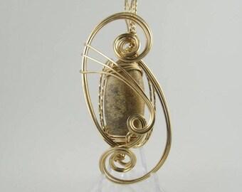 Picture Jasper Pendant, Jasper Pendant, Picture Jasper Necklace, Gemstone Pendant, Wire Wrapped Pendant, Handmade Jewelry, Wire Wrap Jasper