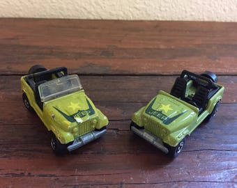 Vintage Hot Wheels Military Jeep/ Malaysia / 1981 Mattel/ Choose One or Both For a Discounted Price!