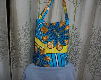 SHIPPING overnight Tote bag, just bag, bag, tote bag in African style wax.