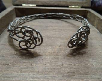 Titanium Celtic Bracelet, Reversible Celtic Bracelet, Adjustable Celtic Bracelet, Nordic Titanium Bracelet, Titanium Celtic Jewelry