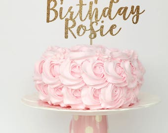 Happy birthday cake topper, birthday cake topper, cake topper first birthday, cake toppers for birthday, baby girl birthday cake topper