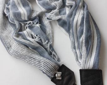 NEW Studio Love Camera Strap: boho fringe stripe scarf pro photographer dslr leather crossbody